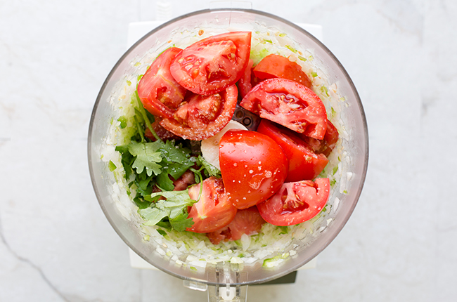 image of ingredients for how to make fresh salsa