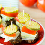 Low-Carb Cheeseburger Skewers