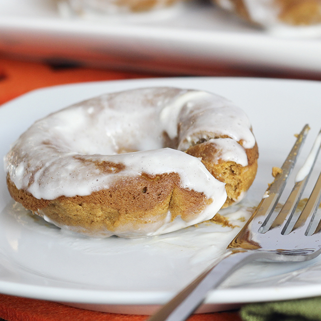 brooke griffin cream cheese glazed pumpkin donuts