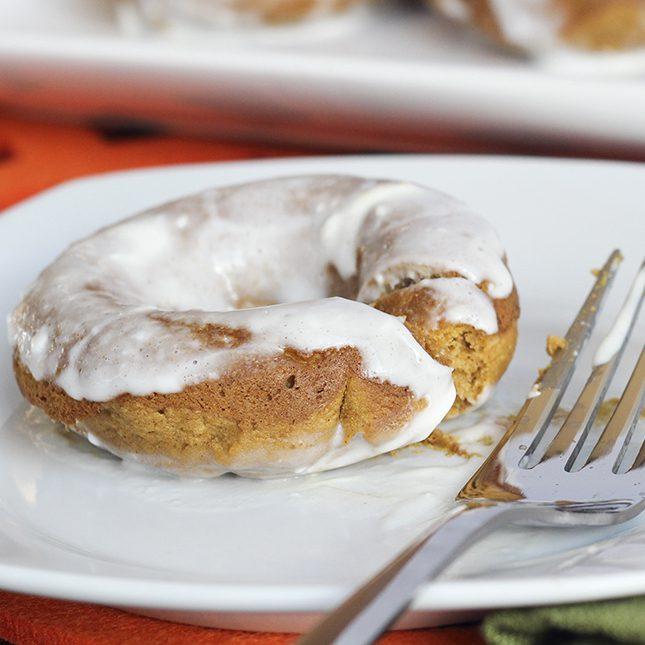 brooke griffin cream cheese glazed pumpkin donuts