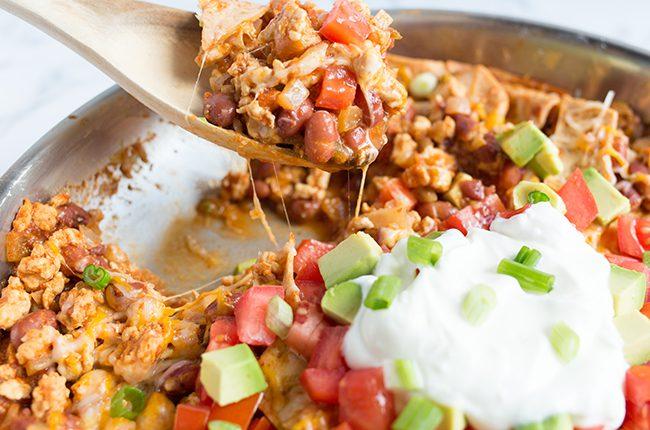 Burrito Dinner on a spoon