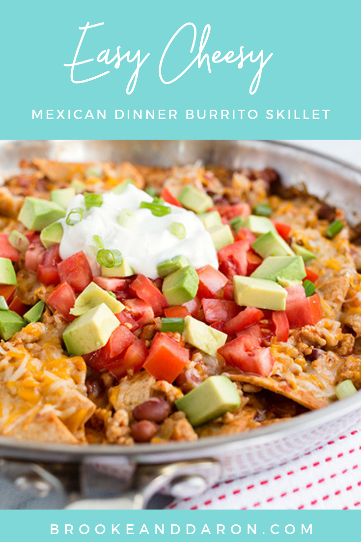 Easy Cheesy Mexican Dinner Burrito Skillet