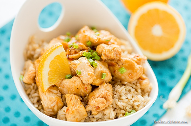 Chicken in large white bowl