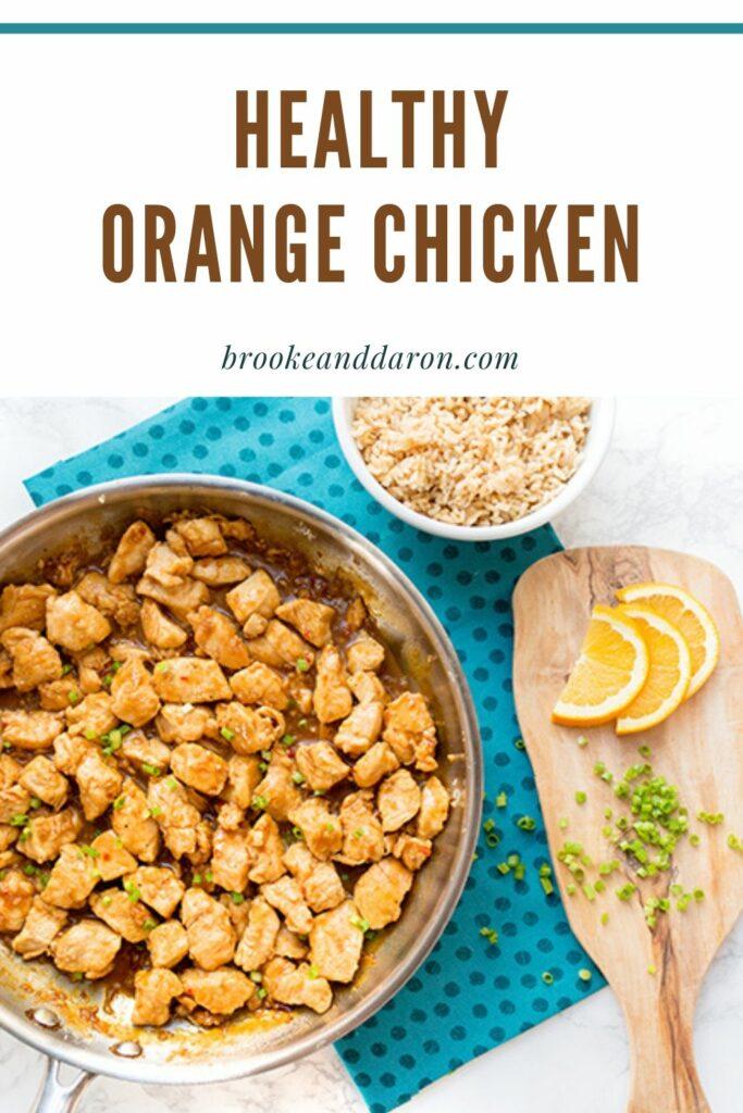Orange chicken in skillet