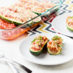 Chicken Sausage Stuffed Zucchini Boats