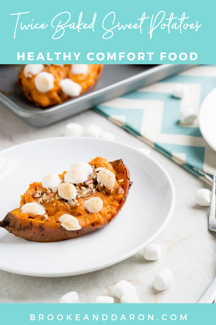 How to make twice baked sweet potatoes healthier