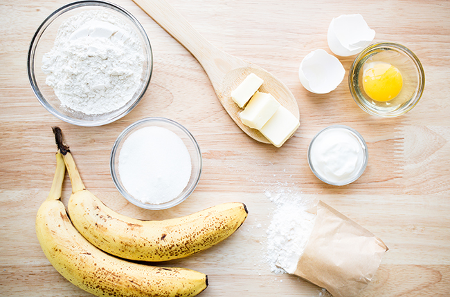 ingredients for banana cookies