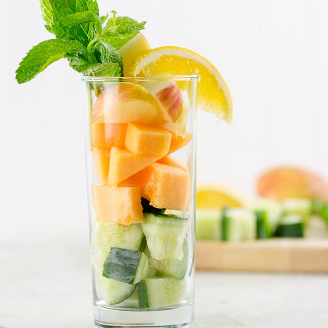 fruit in a glass