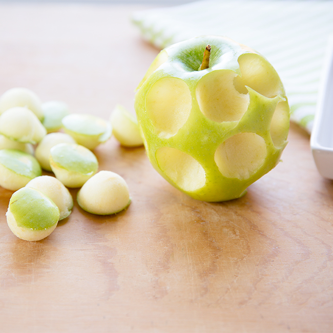 melon balled apple