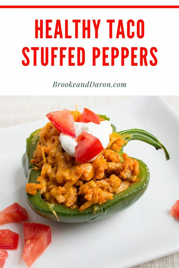 Sour cream topped bell pepper