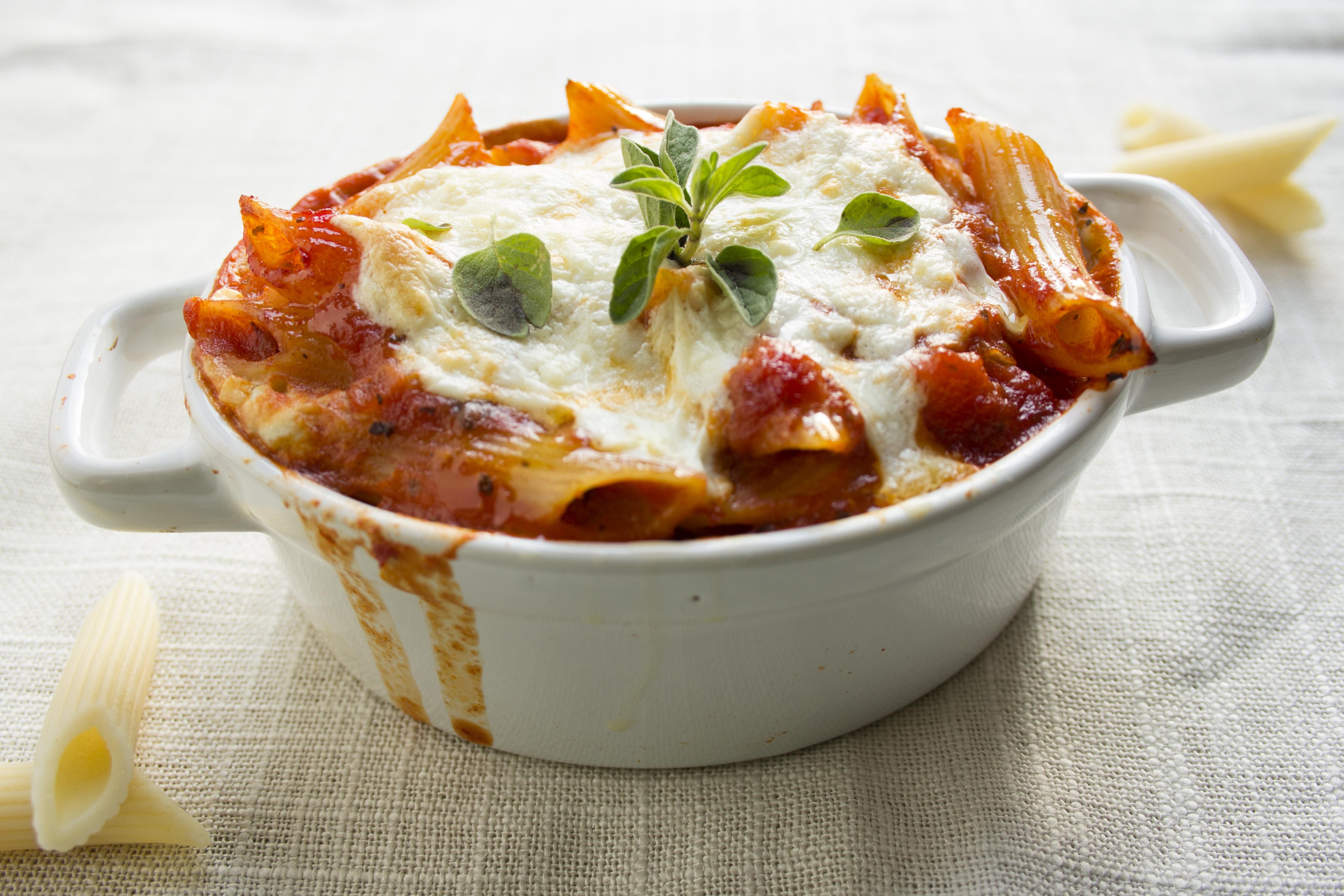 lasagna casserole in serving dish