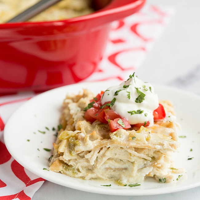 Green Chilie Chicken Lasagna skinny dinners