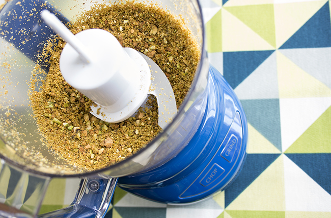 Ground pistachios for baked halibut recipe