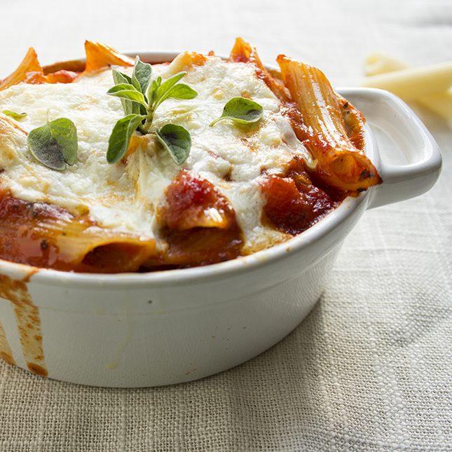 three cheese lasagna casserole