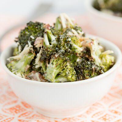 Easy & Healthy Broccoli Salad with Bacon