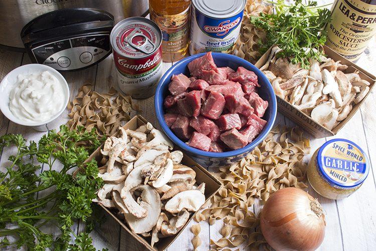 beef stroganoff ingredients