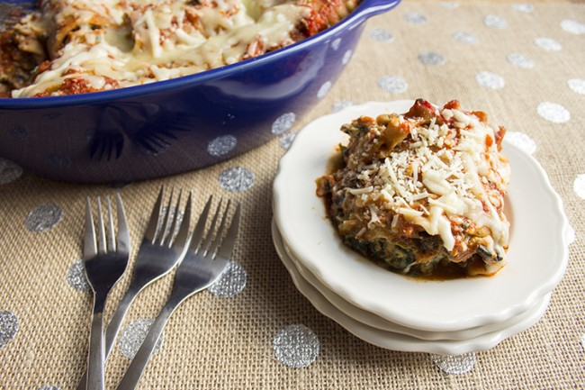 lasagna roll ups on white plate