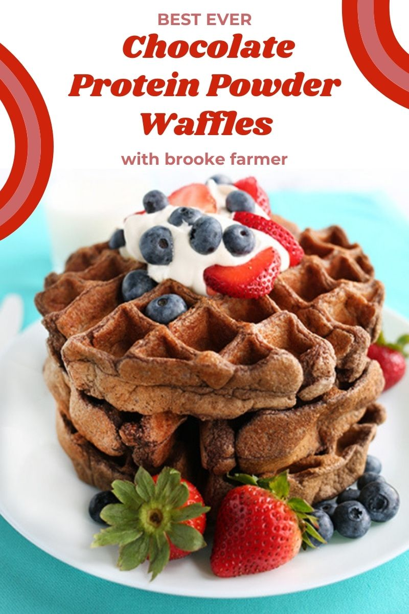 Best Ever Chocolate Protein Powder Waffles