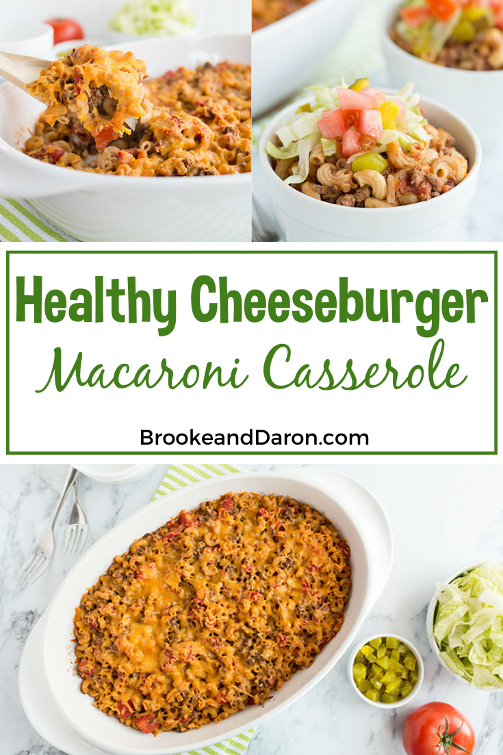 Healthy Cheeseburger Casserole collage picture