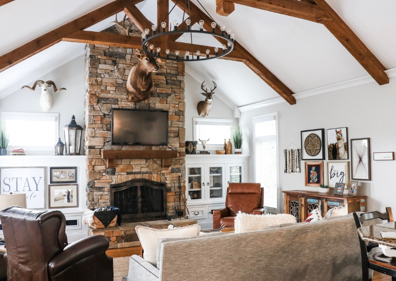 rustic bohemian apartment decor inspiration studio design   Our Rustic and Bohemian Inspired Living Room: Before and After