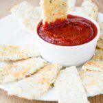 Keto Cauliflower 'Breadsticks' with Marinara Sauce
