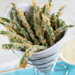 Healthy Green Bean Fries with Honey Mustard
