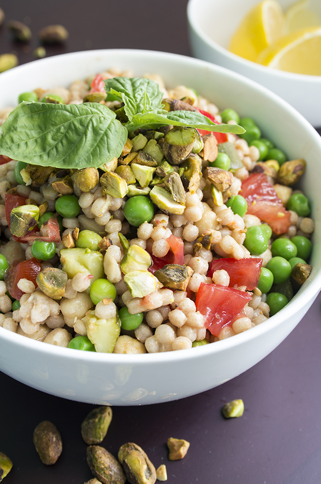 Chickpea Pearl Couscous Salad with Vegetables