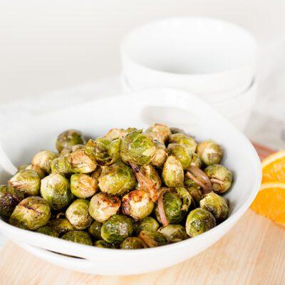 Balsamic Orange Crispy Brussel Sprouts Recipe