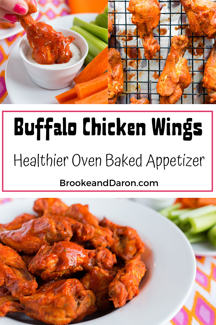 Collage picture of baked buffalo chicken wings (1)
