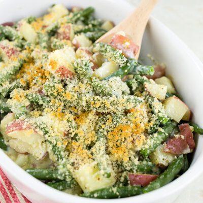 Fresh Green Bean Casserole with Potatoes