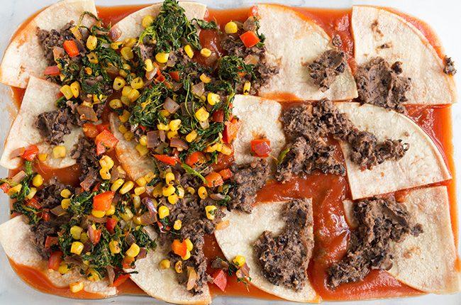 How to layer an enchilada lasagna recipe