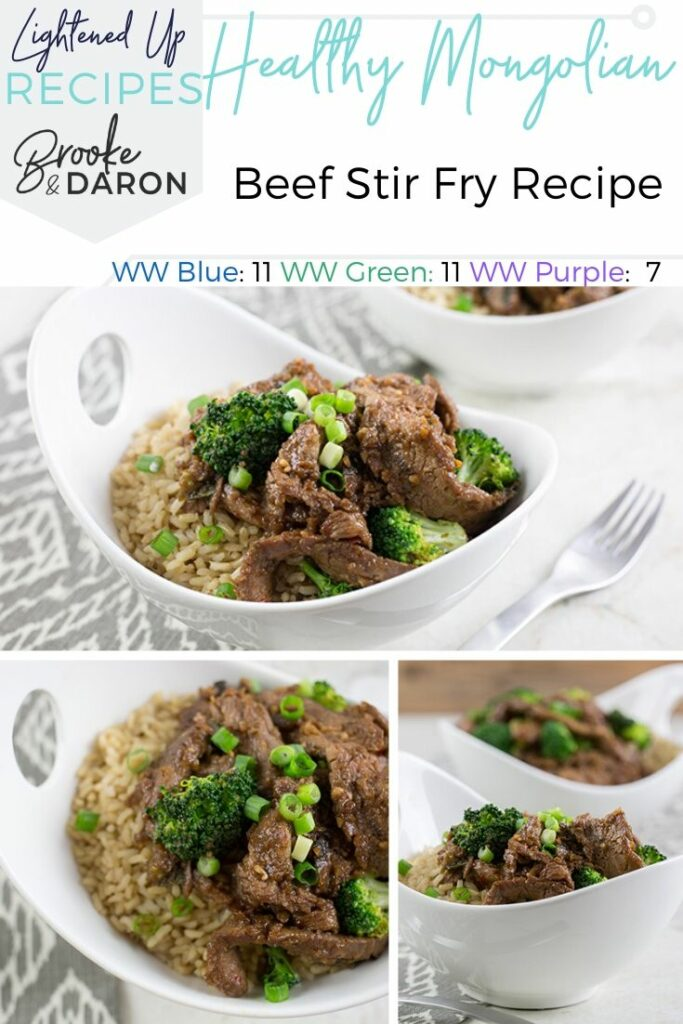 Mongolian Beef stir Fry on white plates