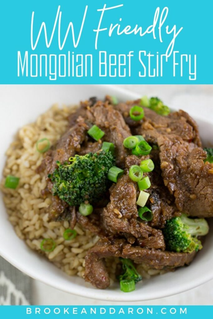 Overhead picture of WW mongolian beef stir fry recipe