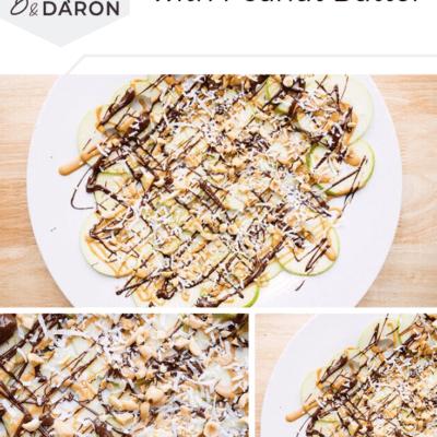 Apple nachos collage picture