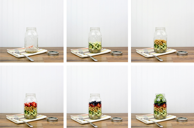 mason jars to make meal prep easier