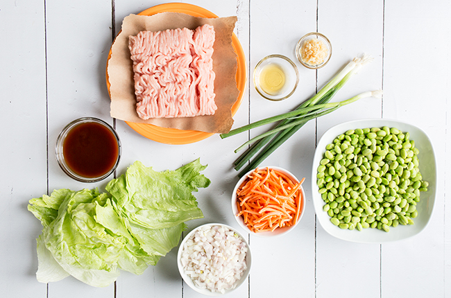 picture of ingredients to make asian turkey lettuce wraps