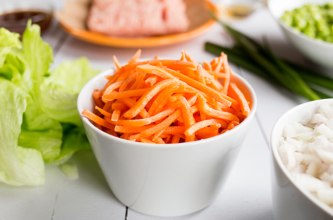 picture of shredded carrots