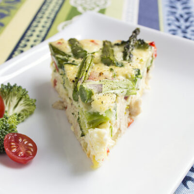 Chicken, Red Pepper, and Broccoli Frittata