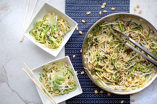 """15 minute zucchini noodles """"zoodles"""" pad thai"""