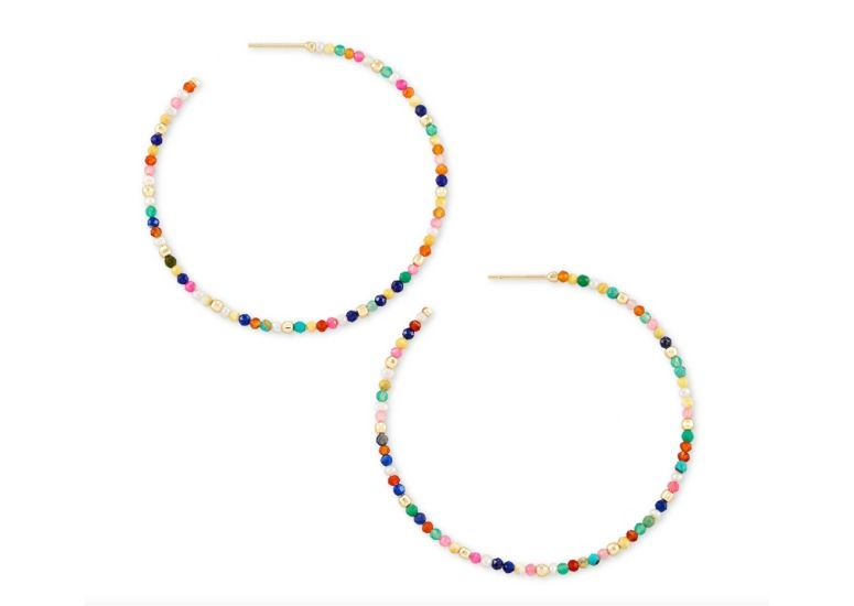 Image of Colorful Hoop Earrings for Summer Must-Haves