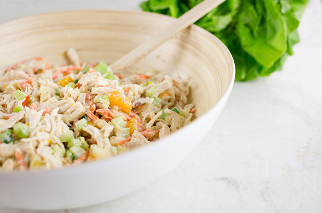 Healthy Low Calorie Asian Chicken Salad Lettuce Wraps-2937