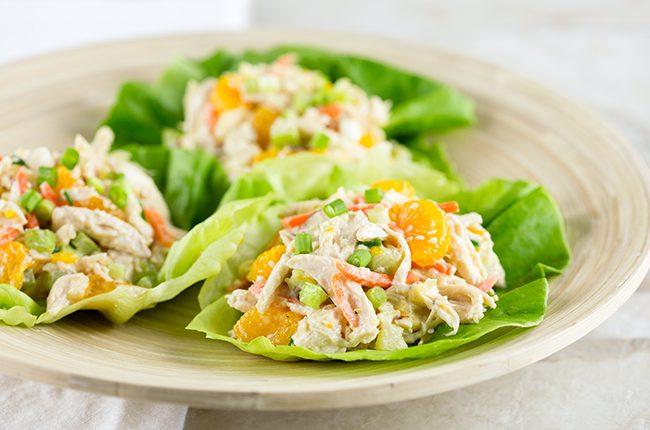 Plated Salad Wraps