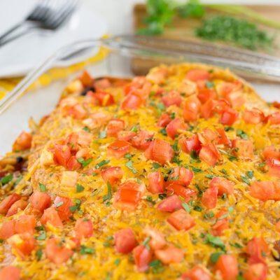 Healthy Chicken Enchilada Casserole