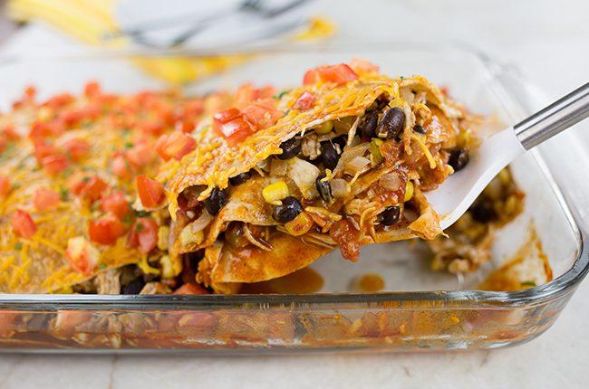 Layers of Enchiladas