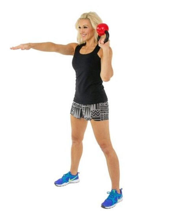 Single Arm Clean and Press for Moves to Banish Bra Bulge