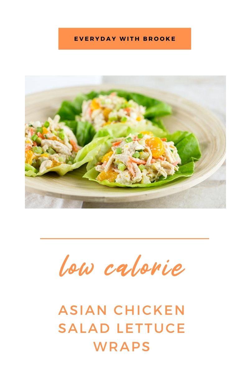 Healthy Low Calorie Asian Chicken Salad Lettuce Wraps-3557