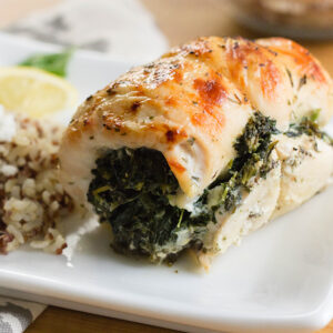 Chicken with Feta Cheese and Spinach
