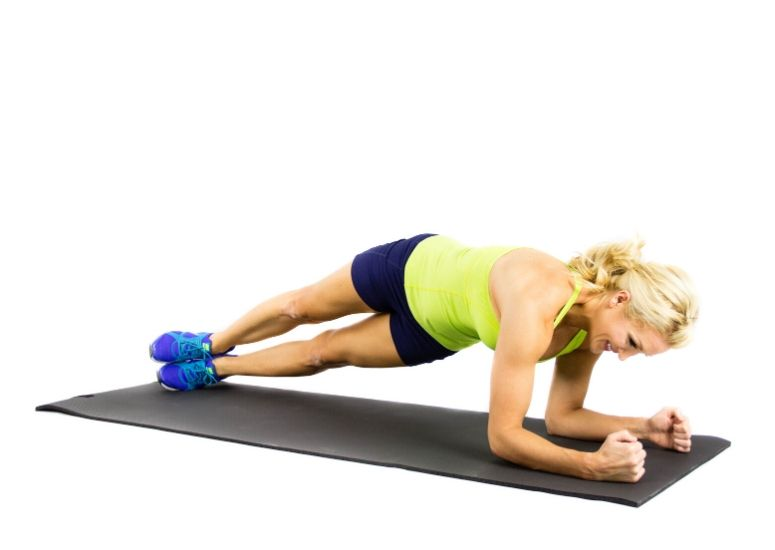 Hip Twister Plank for Moves to Banish Bra Bulge