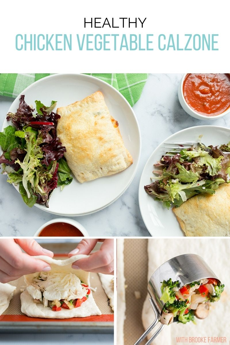 Healthy Chicken Vegetable Calzone