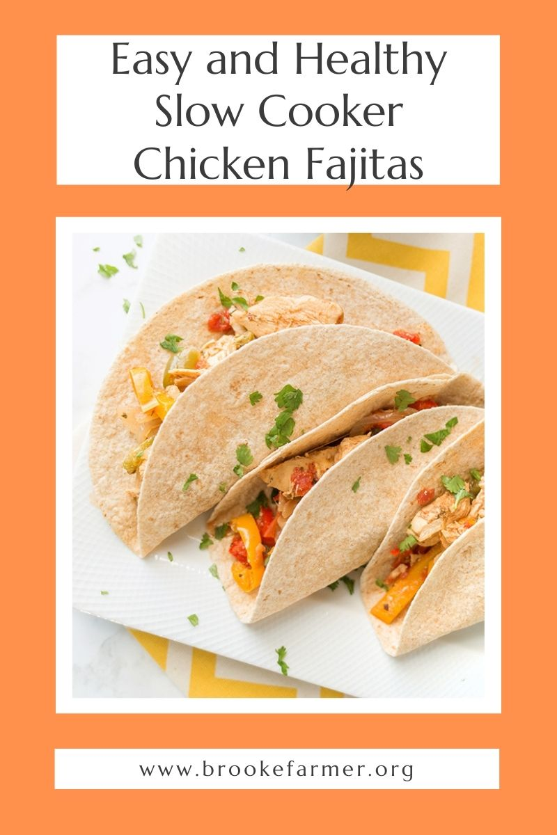Easy and Healthy Slow Cooker Chicken Fajitas